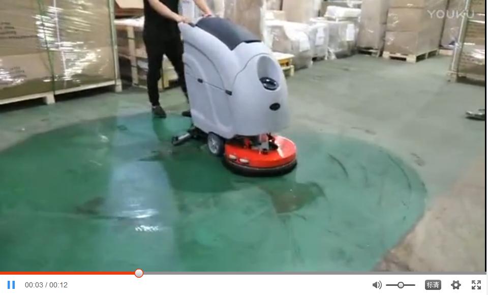 优尼斯L520BT手推式洗地机客户现场实拍