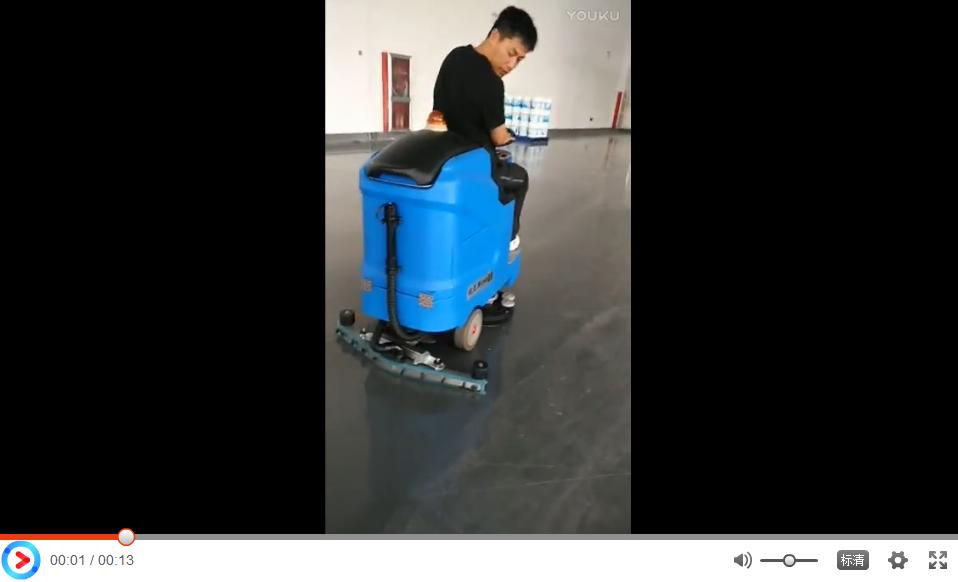 优尼斯驾驶式洗地机R700BT客户现场