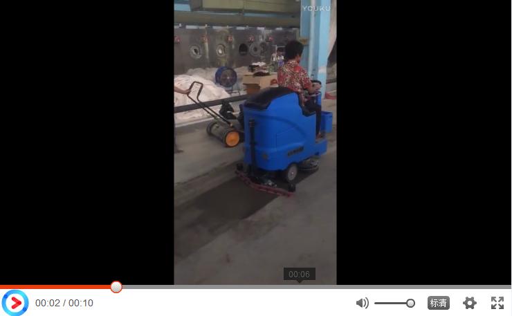 优尼斯大型驾驶式洗地机助力纺织厂