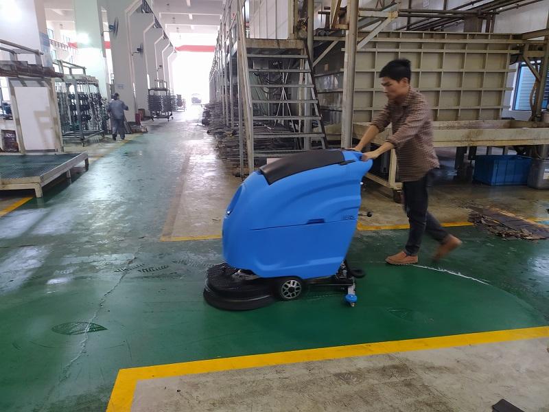 机加工重油污车间使用工业级洗地机-L520BT全自动洗地机