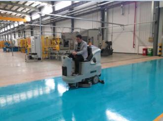 昆山帕捷汽车零部件企业采用优尼斯洗地机