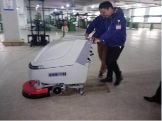 苏州永皓采购优尼斯L510BT手推式洗地机