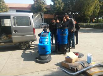 优尼斯洗地机与工业吸尘器一起入驻长胜制铝