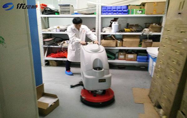 3台S510B手推式洗地机入驻苏州化妆品生产厂家