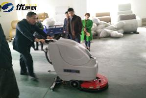 杰盛纺织首次携手优尼斯  采购手推式洗地机