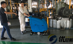 无锡中石油润滑脂公司使用优尼斯L520BT手推洗扫一体机
