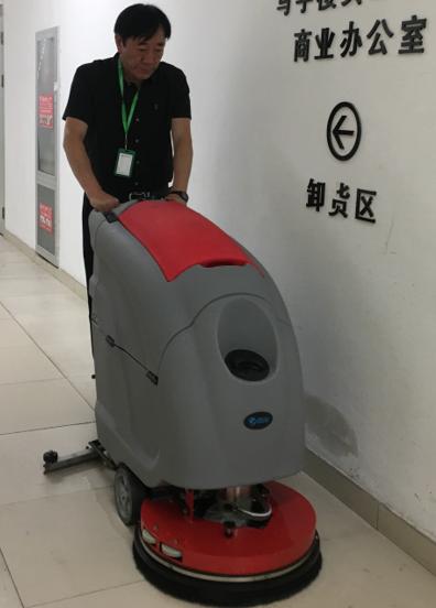 优尼斯洗地机走进苏州广电总台