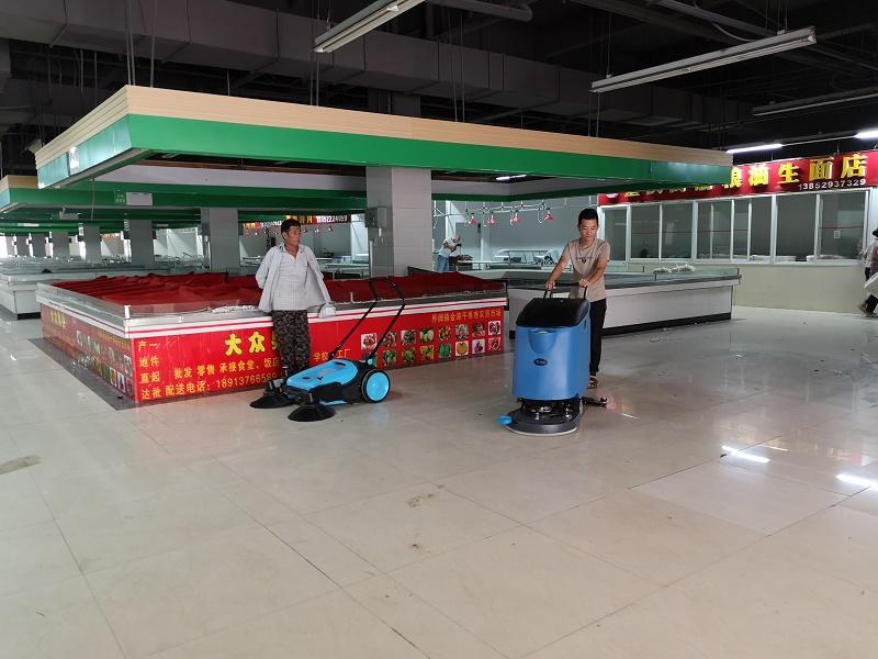 优尼斯洗地机签约农贸市场